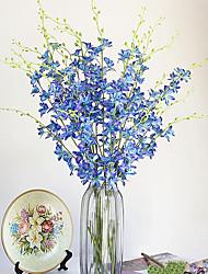 1 Une succursale Polyester Plastique Orchidées Fleur de Table Fleurs artificielles 100(39.3'')