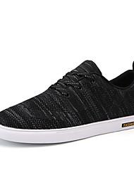 Men's Sneakers Comfort Tulle Spring Fall Athletic Walking Flat Heel Rainbow Gray Black Under 1in