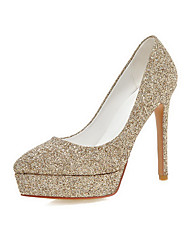 Women's Pull-on Pointed Closed Toe High-Heels Sequins Solid Pumps-Shoes