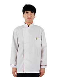 Spring and Autumn Long-Sleeved Overalls Hotel Kitchen Restaurant Kitchen Clothes Tooling Uniform, White