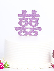 1 PC Cake Toppers MultiColor Chinese character Wedding