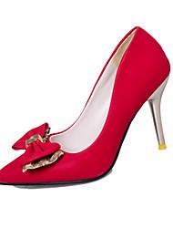 Damen-High Heels-Büro Lässig-PU-StöckelabsatzSchwarz Rot Khaki