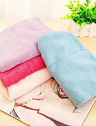 Strong Absorbent Towel Dry Hair Cap Microfiber Bath Cap Thicker Turban(Rose Red)