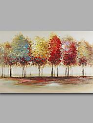 Pintada a mano Abstracto Paisaje Pinturas de óleo,Modern Un Panel Lienzos Pintura al óleo pintada a colgar For Decoración hogareña