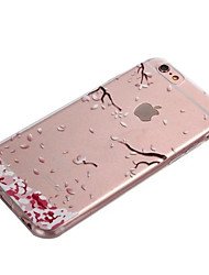 iPhone 7 Plus iFashion® Pink Fallen leaves Pattern TPU Soft Case for iPhone 6s 6 Plus