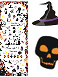 1 pcs Nail Art Water Transfer Halloween Sticker Interesting Skull Animal Image Nail Beauty HOT199