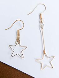 Earring Star / Geometric Drop Earrings Jewelry Women Fashion Wedding / Daily / Casual Alloy 1 pair Gold