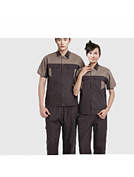 Set Short-Sleeved Overalls Summer, Machinery Aftermarket Protective Clothing, Cotton