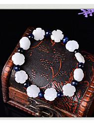 Damen Strang-Armbänder Modisch Perlenbesetzt Zirkon Kreisform Weiß Schmuck Für 1 Stück