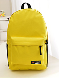 Women Sports  Casual  Pure Color Travel Outdoor Backpack Students Schoolbag