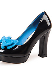 Women's Shoes Leatherette Spring / Summer / Fall Wedges / Heels Heels Office & Career / Dress / Casual Chunky Heel