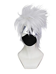 Cosplay Wigs Naruto Hatake Kakashi Gray Short / Straight Anime Cosplay Wigs 23 CM Synthetic Fiber Male