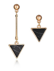 New Arrival Fashion Long Earrings 18K Gold Plated Natural Stone Triangle Asymmetrical Earrings Women Party Jewelry