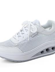 Damen Sneaker Komfort Tüll Sommer Sportlich Komfort Schnürsenkel Flacher Absatz Weiß Schwarz Grau Grün Rosa Flach