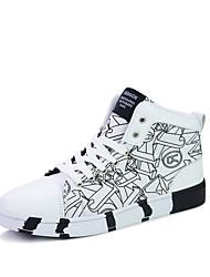 Herren-Sneaker-Lässig-Stoff-Flacher Absatz-Komfort-Schwarz / Blau / Rot / Weiß / Schwarz und Weiss