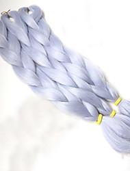 """Jumbo Box Tranças fibra sintética Cinzento Extensões de cabelo 24 """" Tranças de cabelo"""