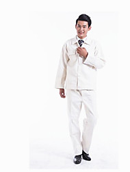 Cotton Beige White Long Sleeved Electric Welding Clothes  Size  XXL