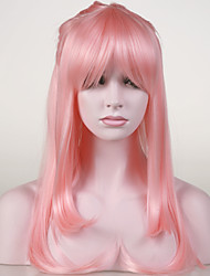 Japanese High-quality Synthetic Hair Light Pink Anime Cosplay Costume Long Wig