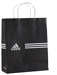 Kraft Paper Bags Simple Spot Reusable Shopping Bag Garment Bag Advertising Custom Black And White A Pack Of Five