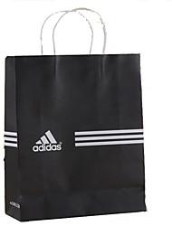 kraft sacs en papier simple, réutilisable sac shopping sac de vêtement publicité tache noire personnalisée et blanc un paquet de cinq