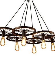 Lighting Personality Industrial Loft Style Wrought Iron Chandelier Restaurant Bar Cafe Restaurant Wheel Chandelier