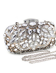 Women Clutch Evening Bag Special Material Event/Party Casual Silver