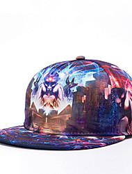 Hip Hop Women Men Street Dance Alien Galaxy Print Adjustable Patchwork 3D Baseball Cap