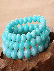 Light Blue Gem Stone Strand Bracelet