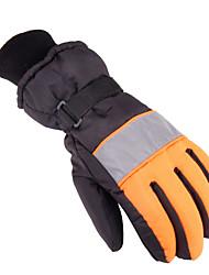 Ski Gloves Winter Gloves Unisex Keep Warm Ski & Snowboard Gray / Blue / Orange Canvas Free Size