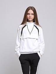 ARNE® Feminino Colarinho Chinês Manga Comprida Hoodie & camisola Branco-A031