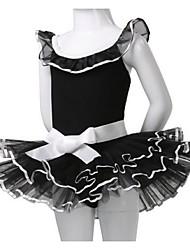 Ballet Dresses Children's Performance Cotton Bow(s) 1 Piece Ballet Sleeveless Natural Dress