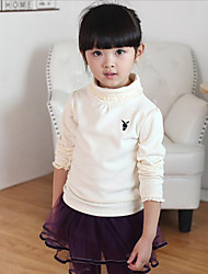 Girl's Casual/Daily Embroidered Tee,Cotton Winter / Spring / Fall Red / White