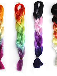 Синтетический Наращивание волос Наращивание волос
