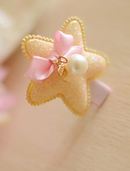 Frauenhaarclip Stoff Sterne des Blumenmädchens
