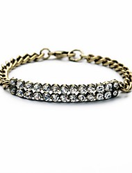 Bohemian Rhinestone Antiqued Bronze Chain Bracelets Golden Bracelet Fashionable Circle Alloy Jewellery