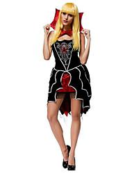 Costumes de Cosplay Costume de Soirée Princesse Conte de Fée Fête / Célébration Déguisement d'Halloween Noir/jaune Couleur PleineRobe