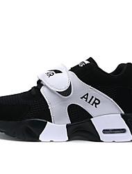 Femme-Décontracté / Sport-Noir-Talon Plat-Confort-Sneakers-Tulle