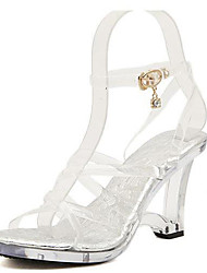Women's Sandals Summer PVC Casual Translucent Heel Others White Others
