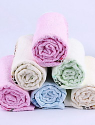 32 Shares Towels Plain Weave Bamboo Fiber Thickening Interrupted Absorbent Towel