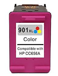 cartouches hp imprimante jet d'encre compatible (901XL-couleur)