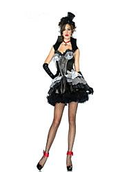 Costumes de Cosplay / Costume de Soirée Vampire Fête / Célébration Déguisement Halloween Noir / Gris Couleur PleineJupe / Gants / Collier