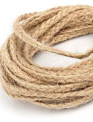 Beadia Approx 5x2mm Braided Natural Hemp Jute Cord For DIY Jewelry Craft Making (5Mts)