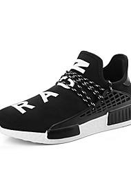 Da uomo-Sneakers-Casual-Comoda-Piatto-Tulle-Nero Rosso