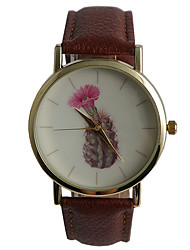 Genuine Quartz Watch Flowering Cactus Ladies Watch