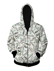 Вдохновлен Косплей Косплей Аниме Косплэй костюмы Косплей вершины / дна С принтом Белый Длинные Пальто / Кофты / Приспущенные ДляМужской /