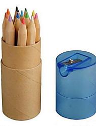 Kraftpapier Rohr mit 12 Farbe mit Farbe Bleistiftspitzer