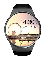 KW18 Smart Watch Android/IOS Digital-Watch Bluetooth Inteligente SIM Round Heart Rate Monitor Clock