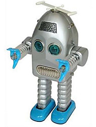 Silver/Coffee Metal Electric Lightning Robot Toys