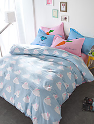 Rabbits brief style 4piece bedding sets print duvet cover Sets 100% Cotton Bedding Set Queen Size