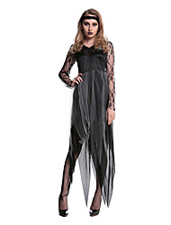 Costumes Ghost / Zombie / Vampires Halloween / Christmas / Carnival Black / Gray Vintage Dress